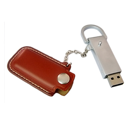 Promotion gift leather usb flash memory